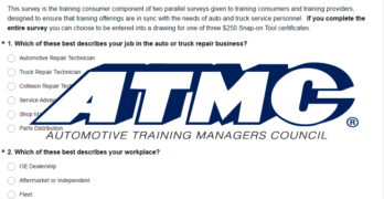 ATMC Annual Survey of Automotive Training Consumers and Providers Underway